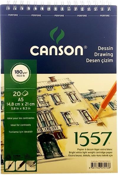 Canson 1557 Desen Çizim Defteri 180Gr. 20 Yaprak, A5