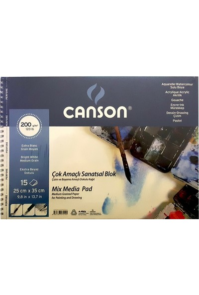 Canson Resim Blok 25X35 Finface 200 Gr 20Yp 152535