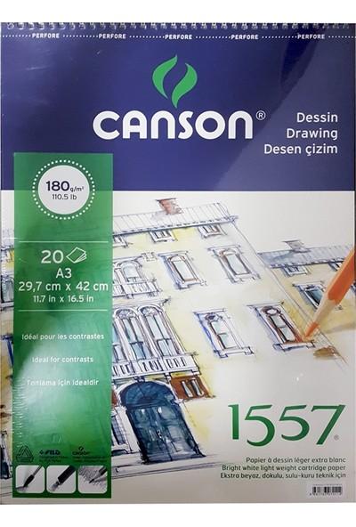 Canson 1557 Desen Çizim Defteri 180Gr. 20 Yaprak, A3