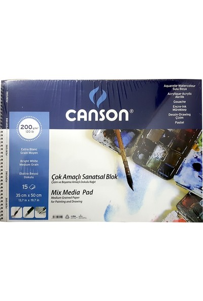 Canson Resim Blok 35X50 Finface 200 Gr 15Yp 153550