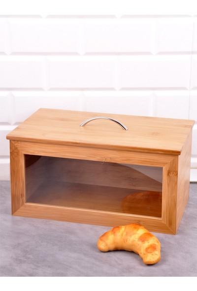 Bayev Ahşap Bambu Ekmek Dolabı (P/Ahs-700210)