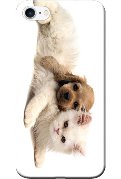 Kılıf Merkezi iPhone 6 Plus / 6S Plus Kedi Ve Köpek Baskılı Silikon Kılıf