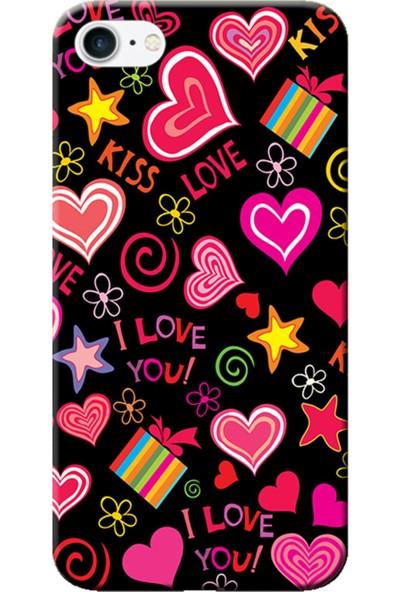Kılıf Merkezi iPhone 7 Kıss Love Baskılı Silikon Kılıf