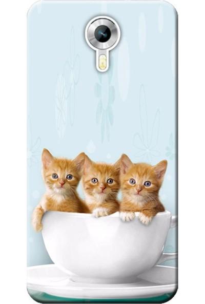 Kılıf Merkezi General Mobile Gm5 Yavru Kediler Baskılı Silikon Kılıf