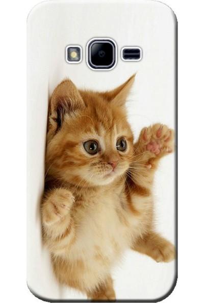Kılıf Merkezi Samsung Galaxy Grand Prime Sm-G530 Sevimli Kedi Baskılı Silikon Kılıf