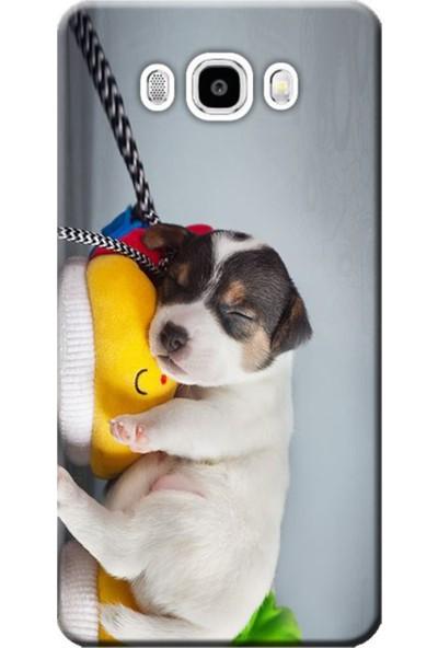 Kılıf Merkezi Samsung Galaxy J2 Sm-J200F Uyuyan Köpek Baskılı Silikon Kılıf
