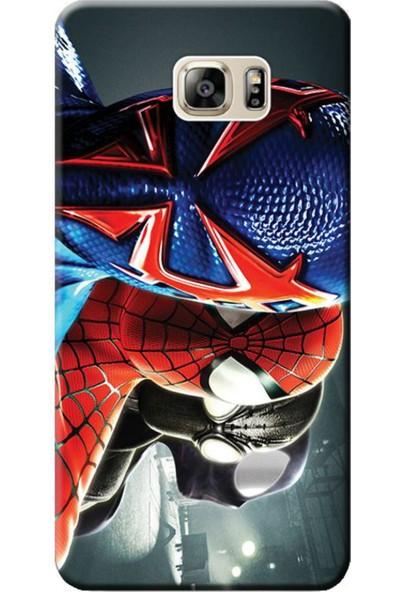 Kılıf Merkezi Samsung Galaxy S6 Edge Plus Spiderman Baskılı Silikon Kılıf