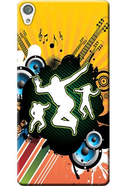 Kılıf Merkezi Sony Xperia X F5121 Guitar Fest Baskılı Silikon Kılıf