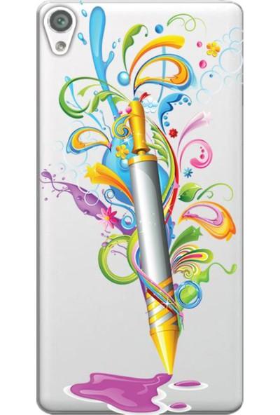 Kılıf Merkezi Sony Xperia Z3 D6603 Holi Pichkari Baskılı Silikon Kılıf