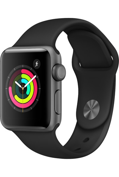 Apple Watch Seri 3 42mm Uzay Grisi Alüminyum Kasa ve Siyah Spor Kordon - MQL12TU/A