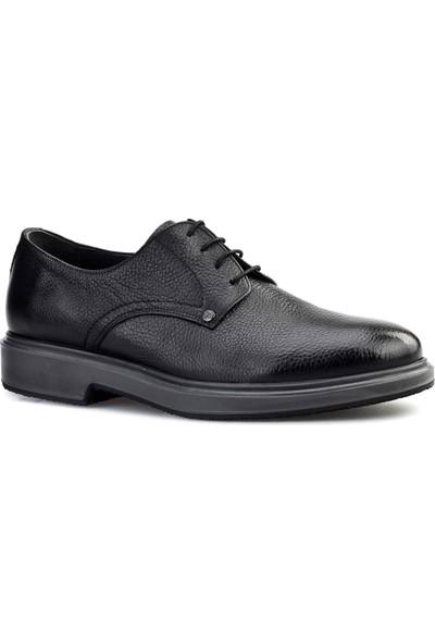 Cabani Oxford Günlük Erkek Ayakkabı Siyah Naturel Floter Deri