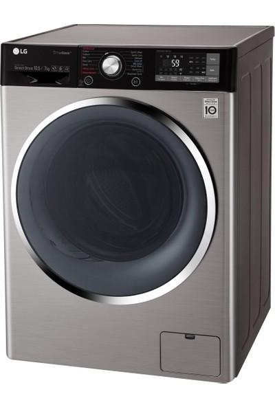 LG F4J9JHP2T A+++ 10,5 kg Yıkama / 7 kg Kurutma 1400 Devir Çamaşır Makinesi