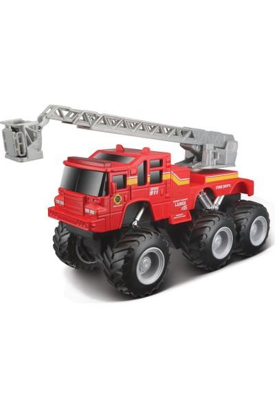 Maisto Quarry Monster Mini Motorlu İtfaiye İş Makinası Kırmızı
