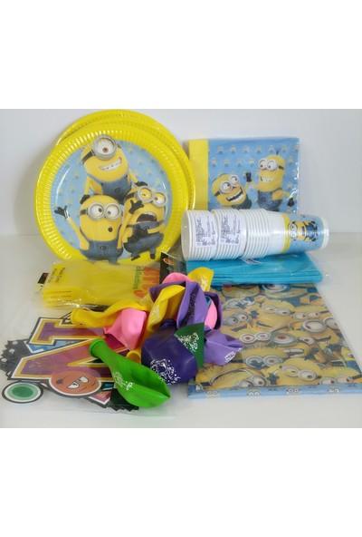 Disney Minyon Doğum Günü Parti Malzemeleri Seti 24 Kişilik Minion