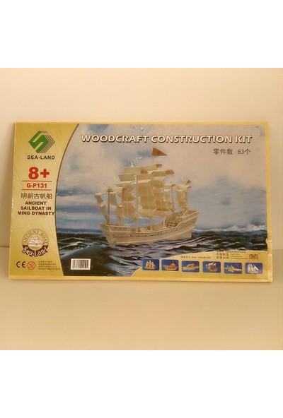 Hdm Maket Gemi Tekne Yelkenli Ahşap Ev Biblo Eğitici FNHFD