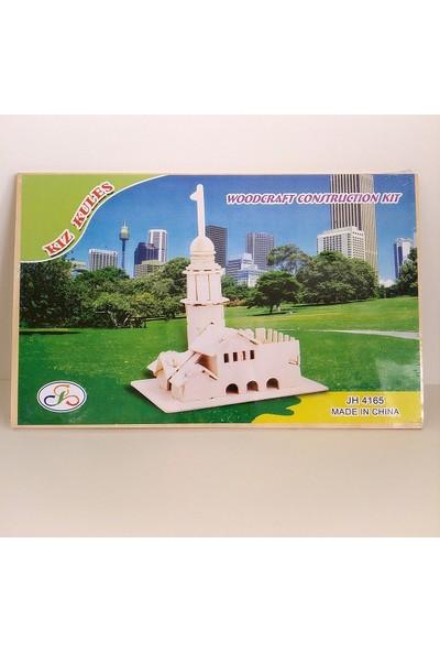 12 Kız Kulesi Maket Ev Biblo Ahşap Eğitici Oyuncak