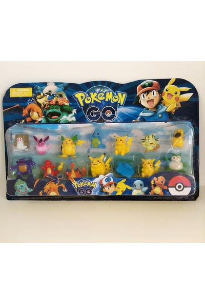 Hdm Pokemon Go Oyuncak Figürler Pikachu 14 Adet LNGFYTRS
