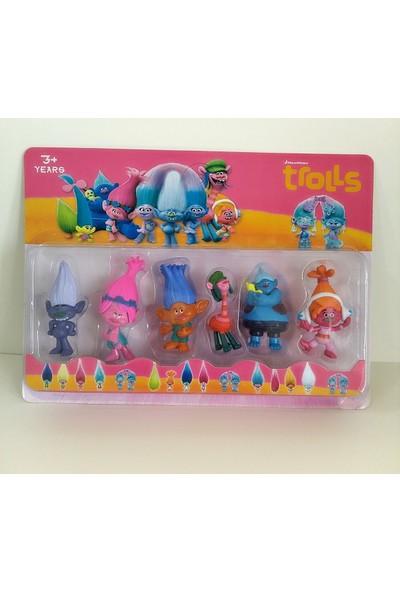 Hdm Troller Oyuncak Trolls 6 adet DNFMGKL
