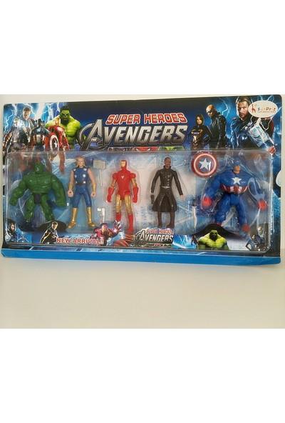 Hdm Yenilmezler Avangers Oyuncak Hulk Kaptan Amerika İron man 5 adet