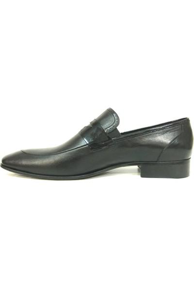 Footmark 715 Siyah Bağcıksız Erkek Ayakkabı