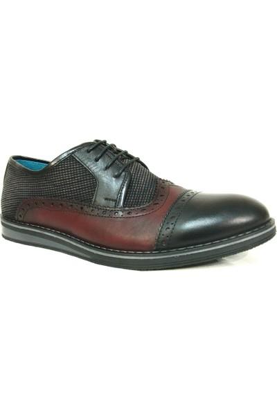 Projack 1104 Siyah Bordo Bağcıklı Casual Erkek Ayakkabı