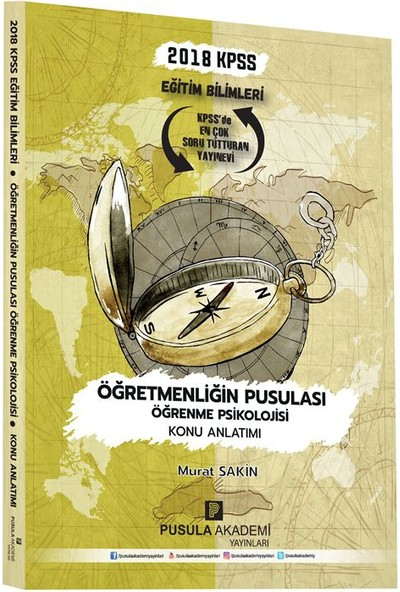 Pusula Akademi Yayınları Kpss Öğretmenliğin Pusulası Öğrenme Psikolojisi Konu Anlatımı 2018