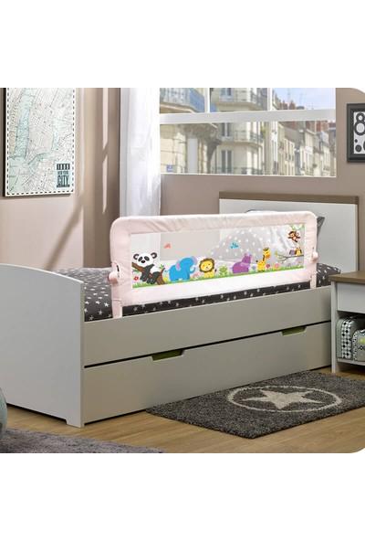 Evokids Animals Katlanabilir Çocuk Yatak Bariyeri 140X52 Cm - Beyaz