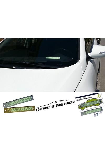 Fonnava Araba Ve İş Yeri İçin Fosforlu Telefon Plakası