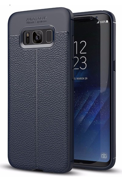 Case 4U Samsung Galaxy S8 Plus Kılıf Darbeye Dayanıklı Niss Lacivert