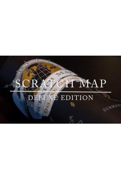 WV Kazınabilir Dünya Haritası Gez Kazı Dünya Haritası Deluxe Edition Büyük Boy
