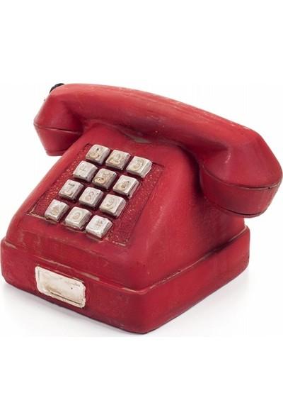 Buffer Nostaljik Kırmızı Telefon Biblo