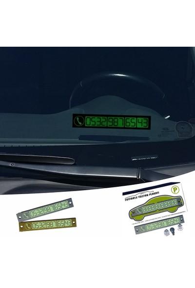 Pratik Araç İçi Fosforlu Telefon Plakası