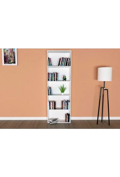 Hepsi Home 5 Raflı Kitaplık Beyaz