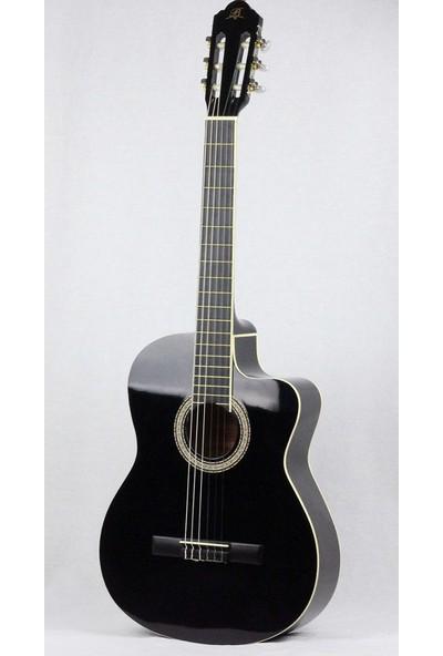 Barcelona Lc 3900 Cbk Cutaway Siyah Klasik Gitar