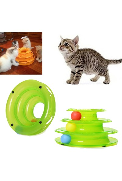 Practika Tower of Tracks 3 Katlı Kedi Oyuncağı