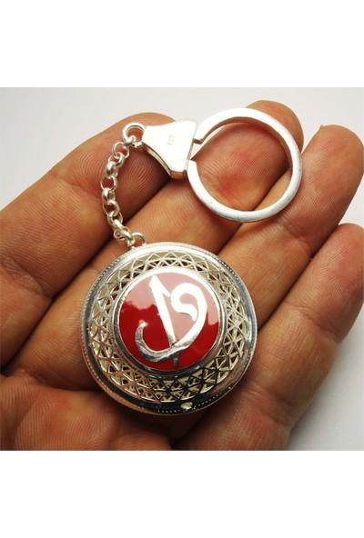 Osmanlı Gümüş Vav Elif 925 Ayar Gümüş Anahtarlık 26,7 gr