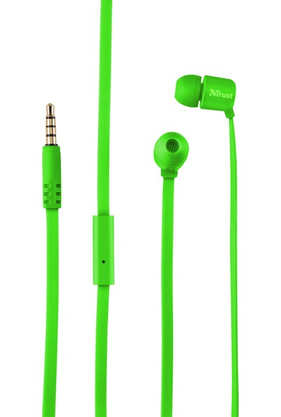 Trust Duga Kulak İçi Mikrofonlu Kulaklık Yeşil