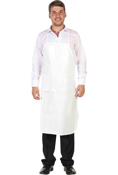 Asba Mutfak Önlüğü Pvc Önlük Beyaz - Standart