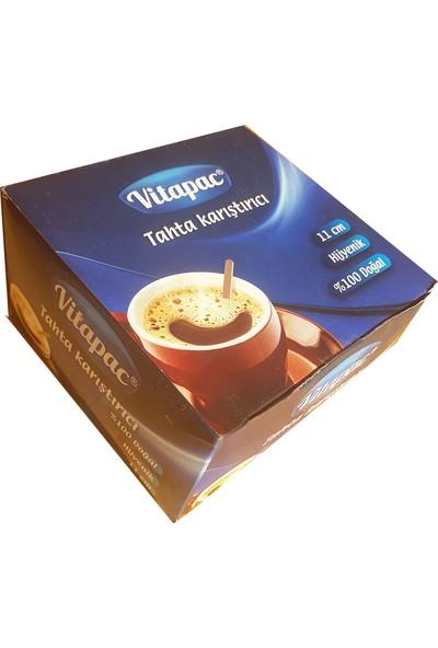 Vitapac Hijyenik Tahta Karıştırıcı 5 Paket x 1000 Adet 11 cm