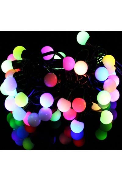 Pratik Minik Top 40 Ledli Dolama Dekor Işıkları (RGB 5m.)