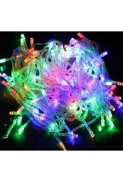 Pratik 100 Ledli 8 Fonksiyonlu Dekor Lambası (10m RGB)