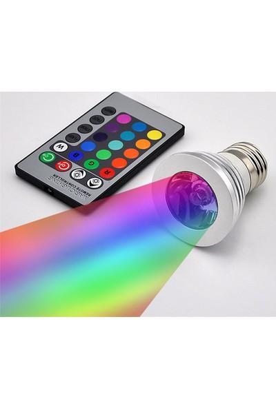 Pratik Kumandalı Led Ampül RGB