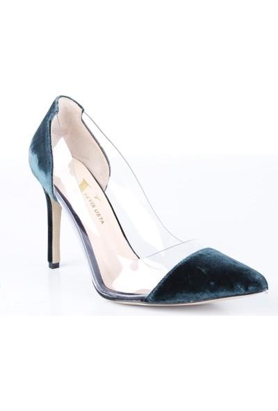 Veyis Usta Kadın Şeffaf Kadife Cindy Model Ayakkabı 4387
