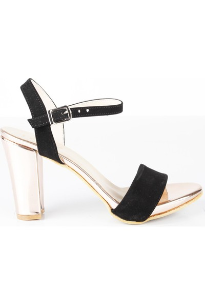 Veyis Usta Kadın Bilek Bağlamalı Siyah Yazlık Sandalet