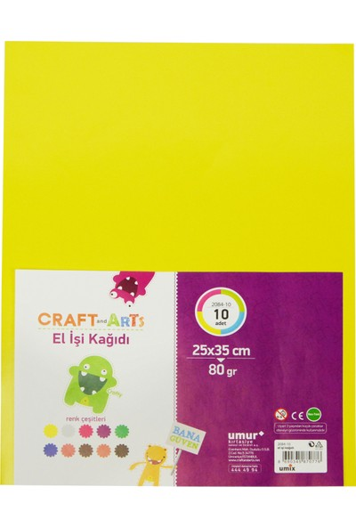 Craft and Arts El İşi K 10'lu Poşetli A4