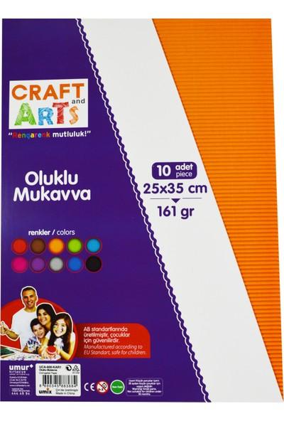Craft And Arts Oluklu Mukavva 25X35 10'Lu Karışık Poşet