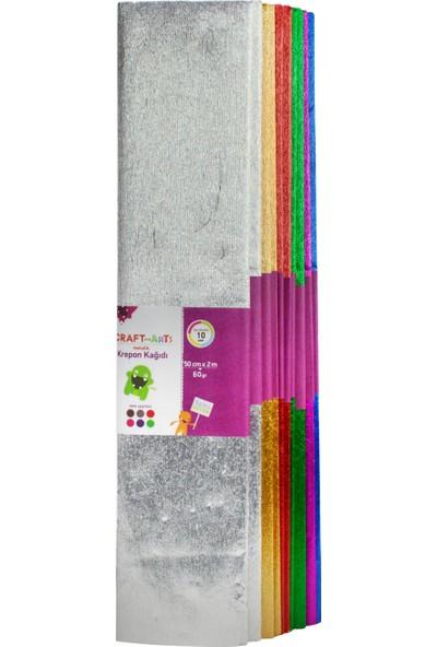 Craft&Arts Krepon Kağ.Met.50X200 10Lu Uca-700-Kar2