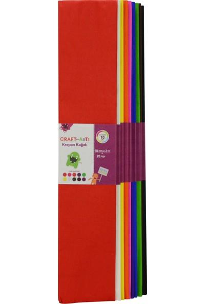 Craft&Arts Krepon Kağ.50X200 10Lu Uca-700-Kar1