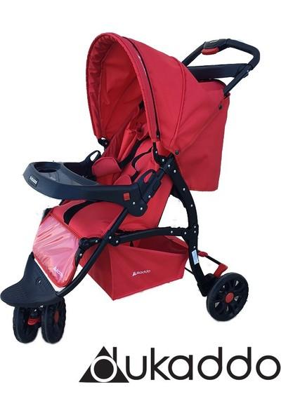 Dukaddo Jogger 3 Teker Bebek Arabası Kırmızı Bj-D143K