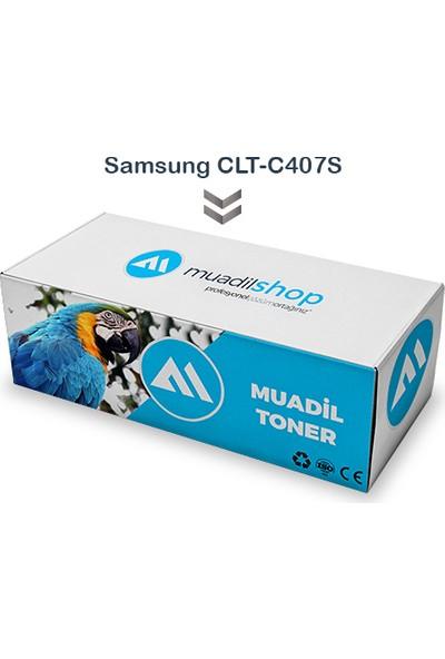 Samsung Clt-C407S Muadil Toner Mavi - Clp-320/321N/325/326/Clx